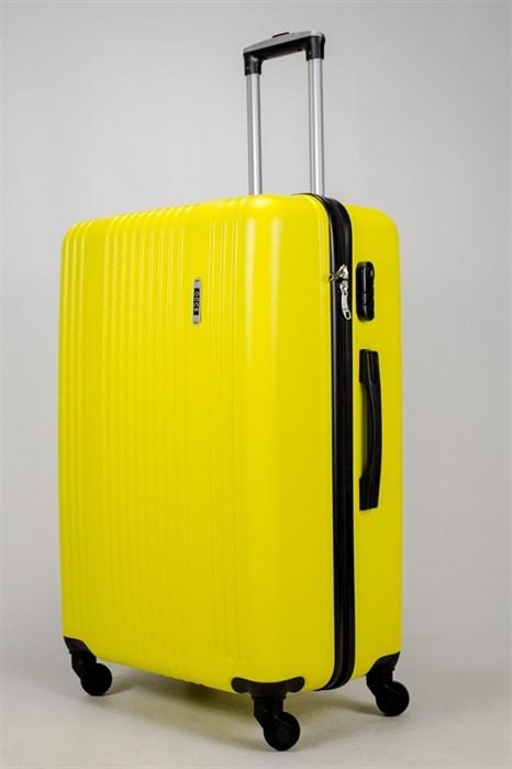 Чемодан большой ABS OCCE (15 полос) желтый - фото 38966