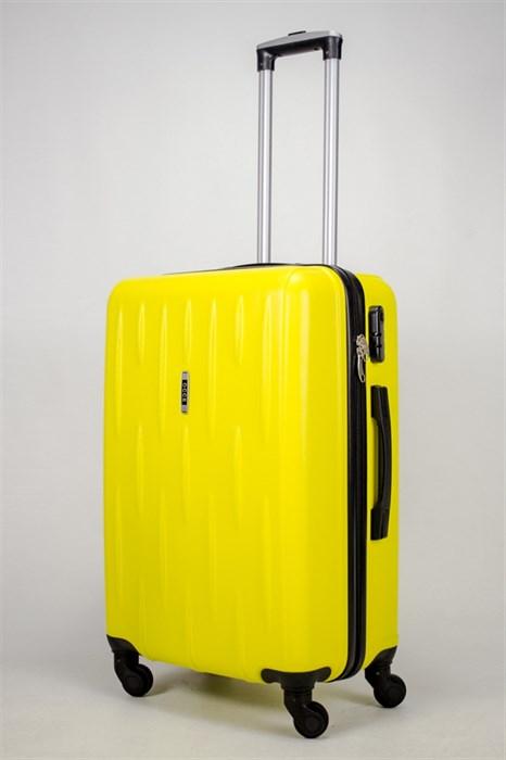 Чемодан средний ABS OCCE (черточки) желтый - фото 38974