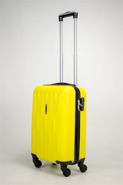 Чемодан маленький ABS OCCE (черточки) желтый ЧФ - фото 39044