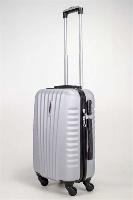 Чемодан маленький ABS Hossoni серебро - фото 39058