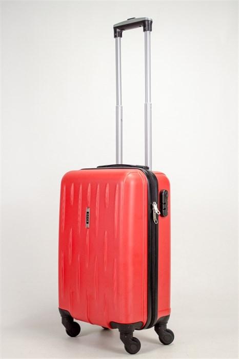 Чемодан маленький ABS OCCE (черточки) красный ЧФ - фото 39095