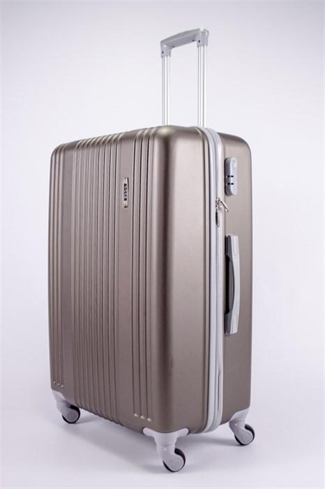 Чемодан большой ABS OCCE (15 полос) коричневый - фото 39190