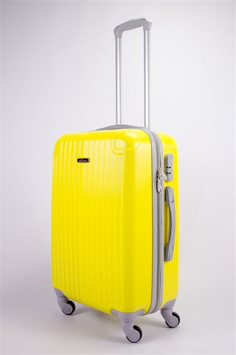 Чемодан средний ABS KK (8 полос и уголки) желтый - фото 39240