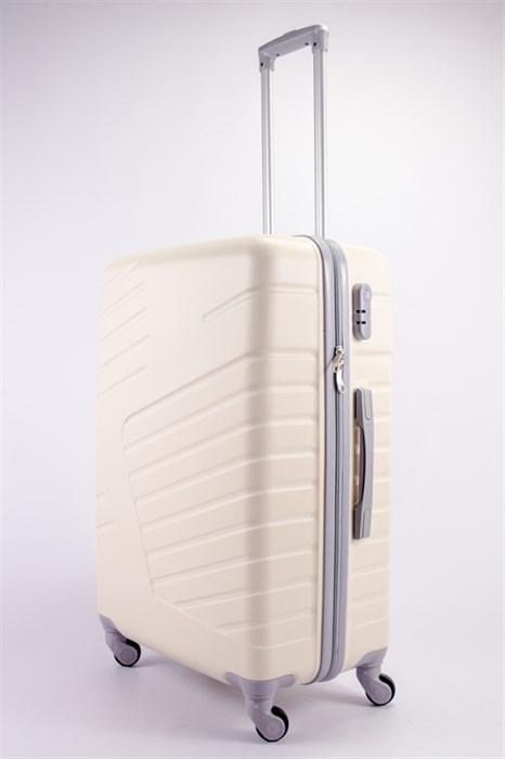 Чемодан большой ABS OCCE (вафли) молочный - фото 39255