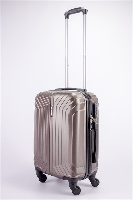 Чемодан маленький ABS Корона (Лилия) коричневый ЧФ - фото 39274