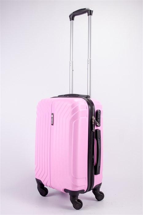 Чемодан маленький ABS Корона (Лилия) розовый ЧФ - фото 39281