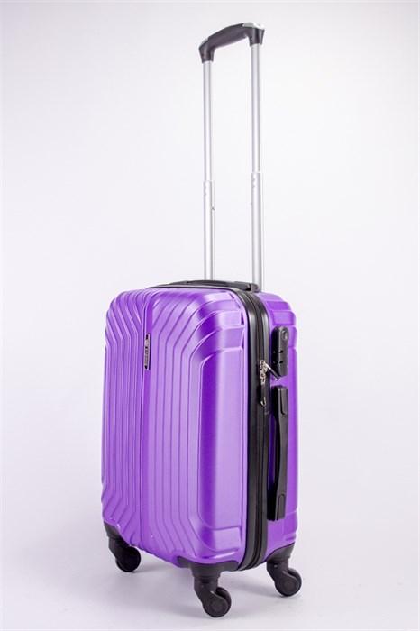 Чемодан маленький ABS Корона (Лилия) фиолетовый ЧФ - фото 39288