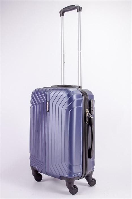 Чемодан маленький ABS Корона (Лилия) темно-синий ЧФ - фото 39295