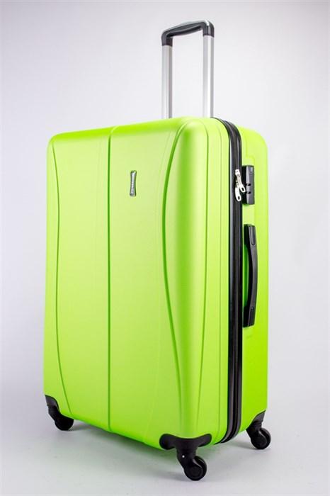 Чемодан большой ABS Freedom (трезубец) кислотно-зеленый - фото 39301
