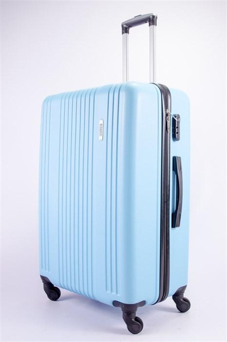 Чемодан большой ABS OCCE (15 полос) голубой - фото 39310