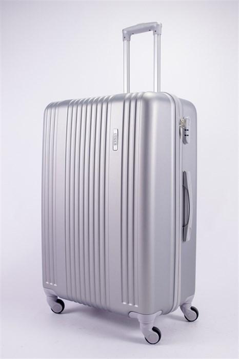 Чемодан большой ABS OCCE (15 полос) серебро - фото 39338