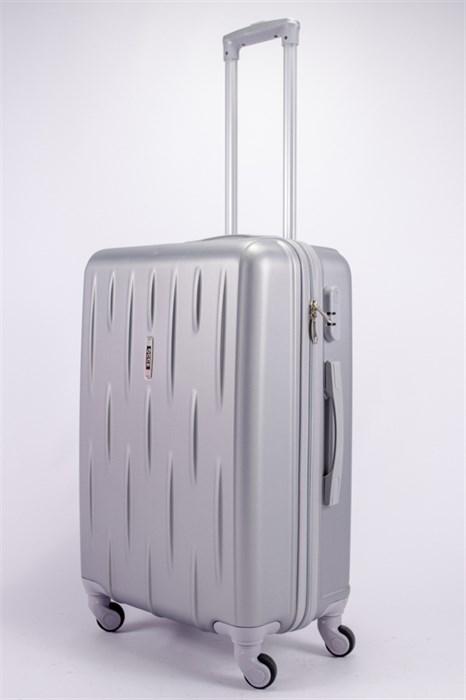 Чемодан средний ABS OCCE (черточки) серебро - фото 39345
