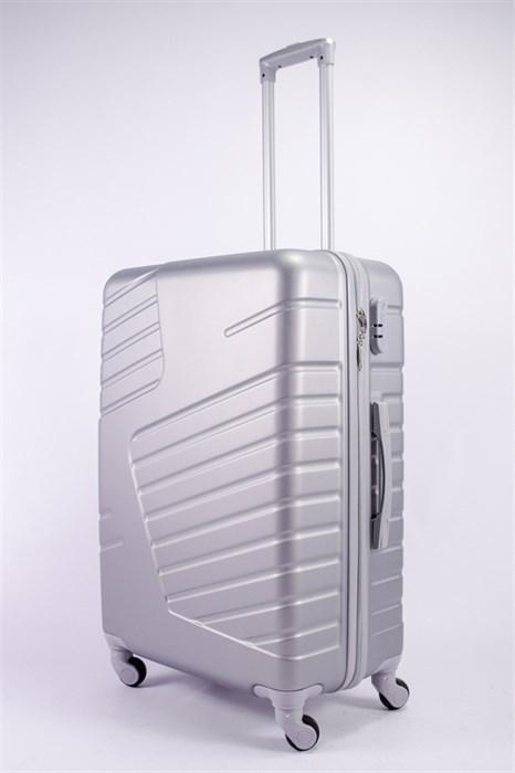 Чемодан большой ABS OCCE (вафли) серебро - фото 39360
