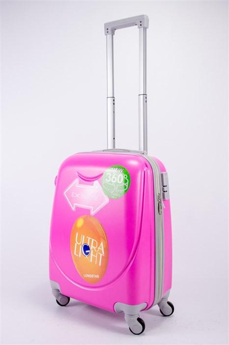 Чемодан маленький ABS 360-гр smile розовый - фото 39374