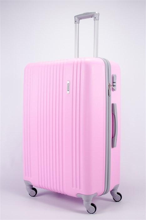 Чемодан большой ABS OCCE (15 полос) розовый - фото 39430