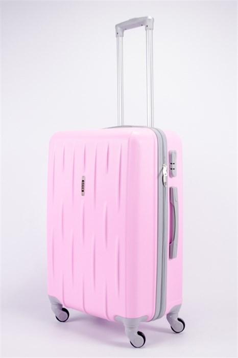 Чемодан средний ABS OCCE (черточки) розовый - фото 39437