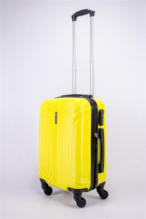 Чемодан маленький ABS Корона (Лилия) желтый - фото 39444