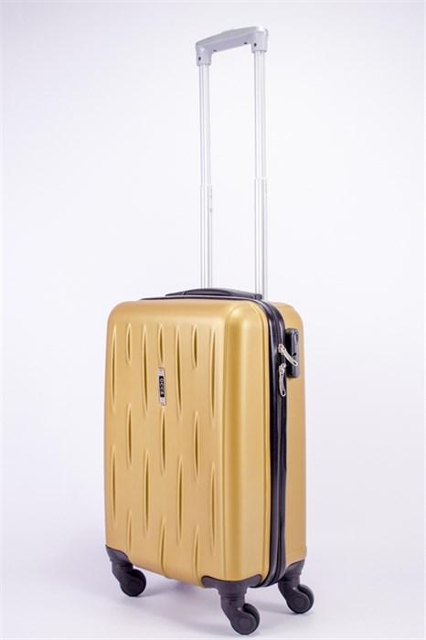 Чемодан маленький ABS OCCE (черточки) золотой ЧФ - фото 39451