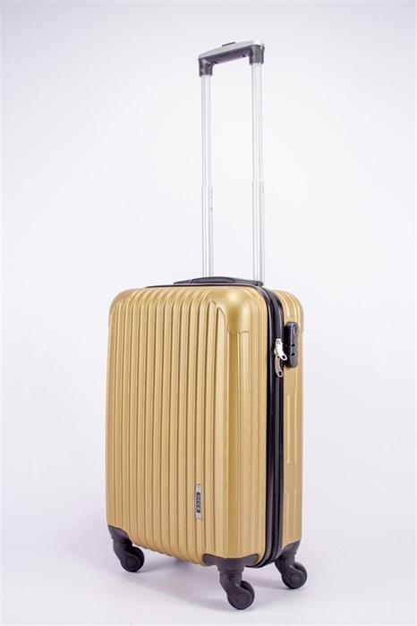 Чемодан маленький ABS OCCE (9 полос углы) золотой ЧФ - фото 39464