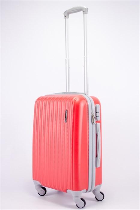Чемодан маленький ABS TT (верт  полос) красный (СФ) OZ - фото 39471
