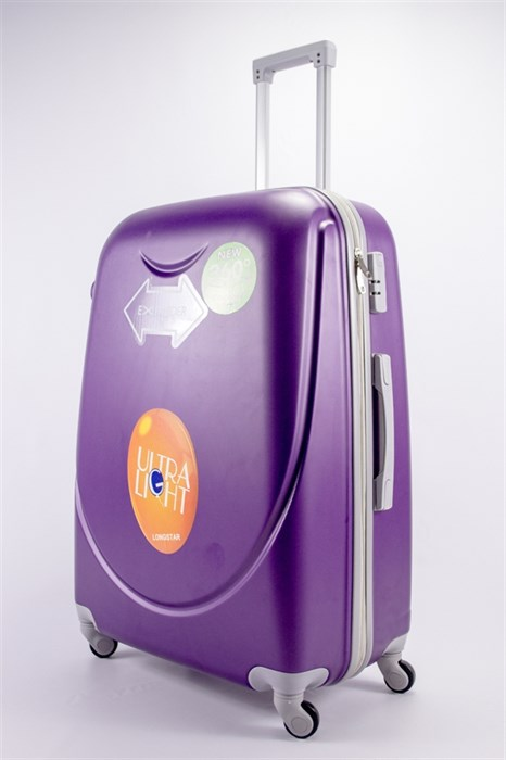 Чемодан большой ABS 360-гр smile  фиолетовый - фото 39491