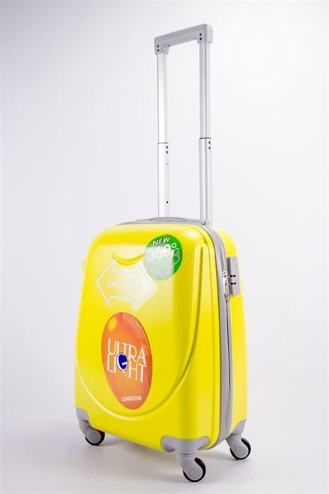 Чемодан маленький ABS 360-гр smile желтый - фото 39519