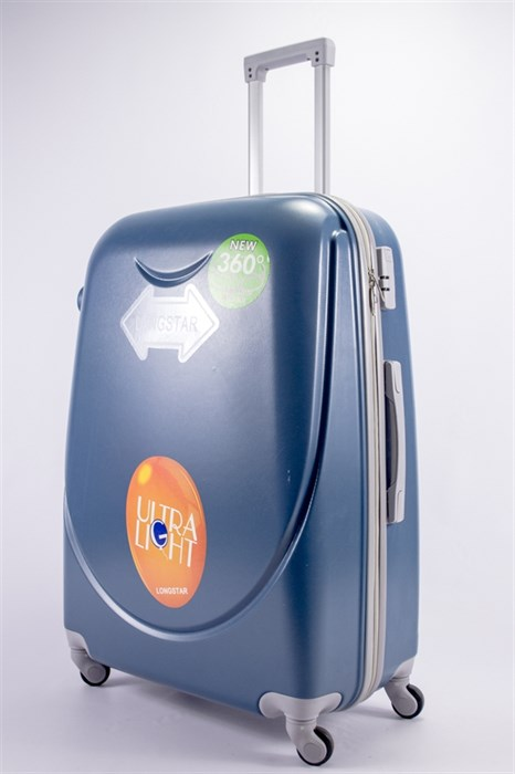 Чемодан большой ABS 360-гр smile  серо-голубой - фото 39533