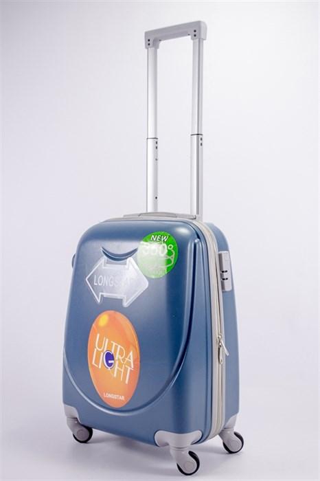 Чемодан маленький ABS 360-гр smile серо-голубой - фото 39561
