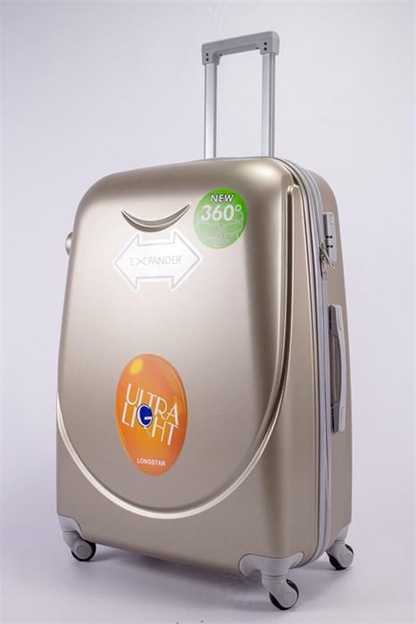 Чемодан большой ABS 360-гр smile песочный - фото 39589