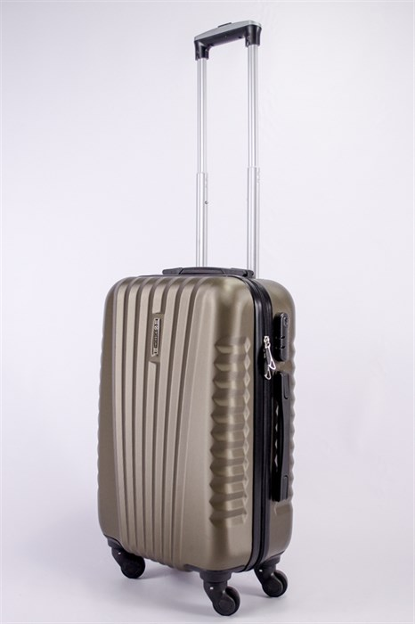 Чемодан маленький ABS Hossoni коричневый - фото 39609