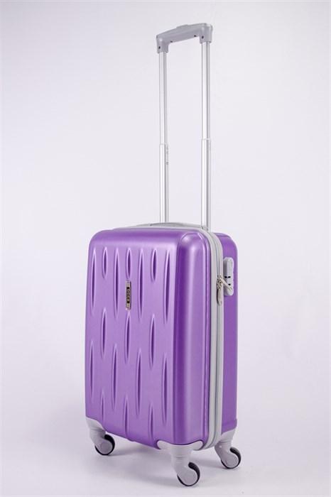 Чемодан маленький ABS OCCE (черточки) фиолетовый ЧФ - фото 39673