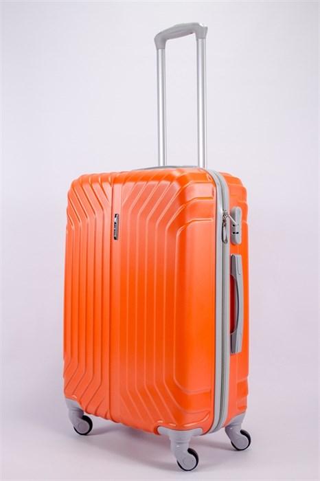Чемодан средний ABS Корона (лилия) оранжевый - фото 39720