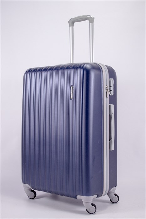 Чемодан большой ABS TT (верт  полоски) темно-синий - фото 39775