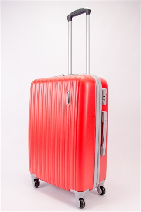 Чемодан средний ABS TT (верт  полоски) красный  СФ OZ - фото 39849