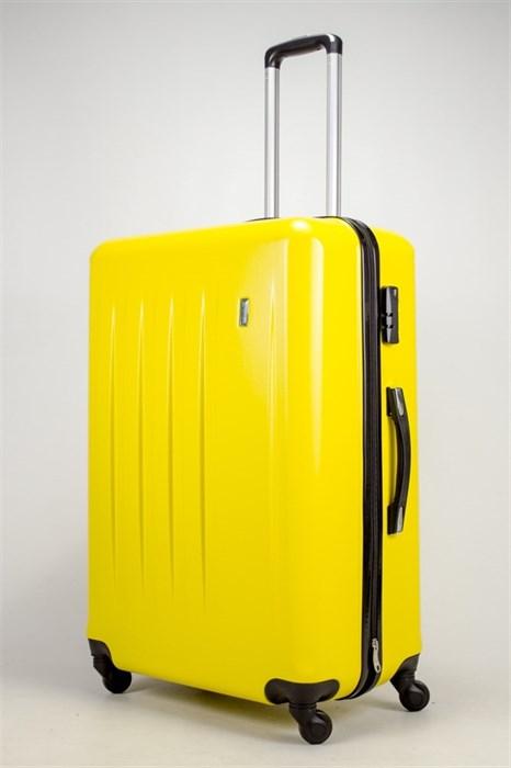 Чемодан большой Люида PC+ABS верт. полосы желтый (Уценка) - фото 39915