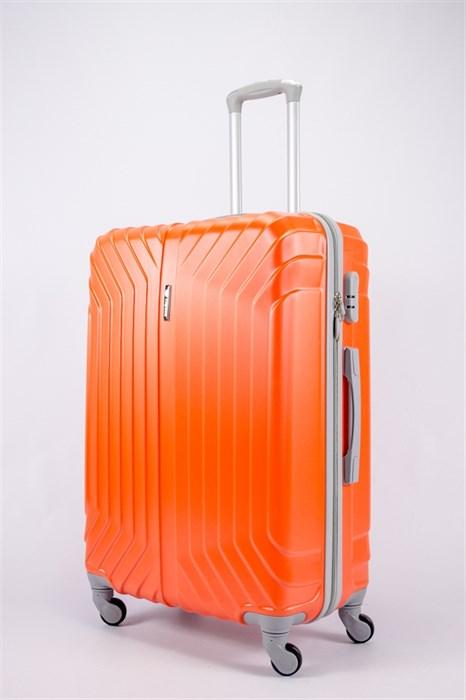 Чемодан большой ABS Корона (Лилия) оранжевый - фото 40011