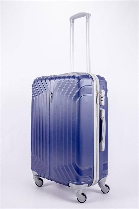 Чемодан средний ABS Корона (Лилия) темно-синий СФ - фото 40062
