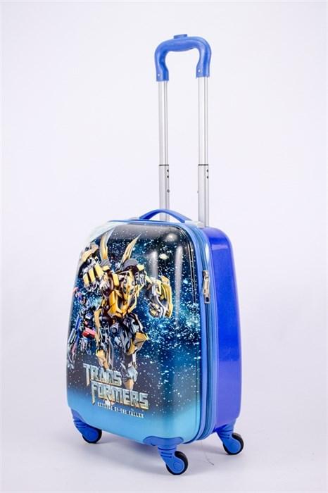 Детский чемодан PC на колесиках синий  13176 - фото 40105