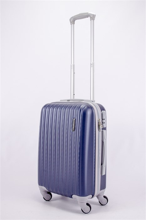 Чемодан маленький ABS TT (верт  полоски) темно-синий СФ OZ - фото 40145