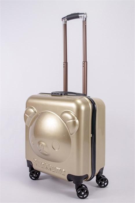 """Детский чемодан с объемным рисунком """"Мишка"""" песочный PC - фото 40287"""