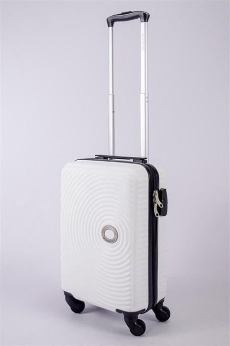 Чемодан маленький ABS MIRONPAN (круги) белый - фото 40392