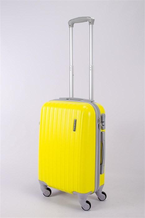 Чемодан маленький ABS TT (верт  полоски) желтый СФ - фото 40426