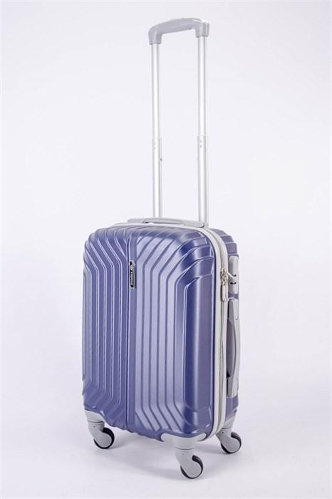 Чемодан маленький ABS Корона (Лилия) темно-синий СФ - фото 40523