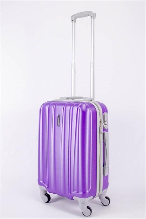 Чемодан маленький ABS KK (6 полос)  фиолетовый - фото 40551
