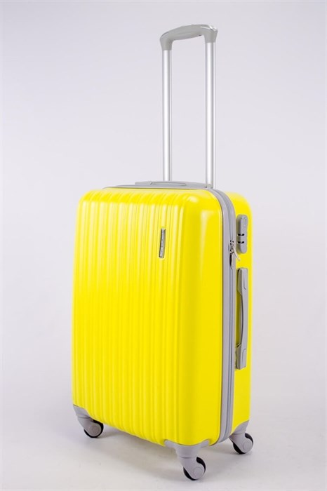 Чемодан средний ABS TT (верт  полоски) желтый СФ - фото 40592