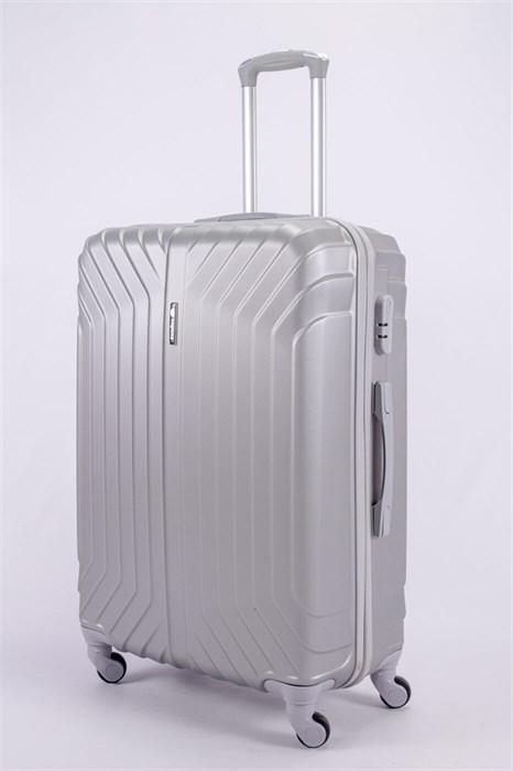 Чемодан большой ABS Корона (Лилия) серебро СФ - фото 52061