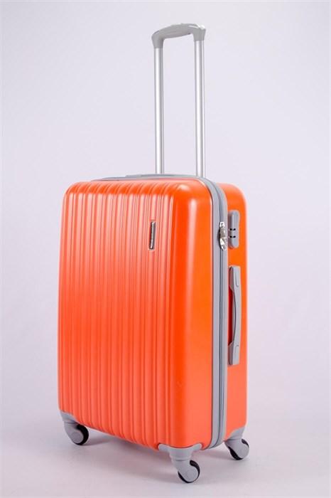 Чемодан средний ABS KK (верт  полосы)  оранжевый  СФ - фото 52085