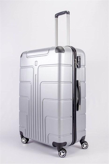 Чемодан большой PC серебро - фото 52163