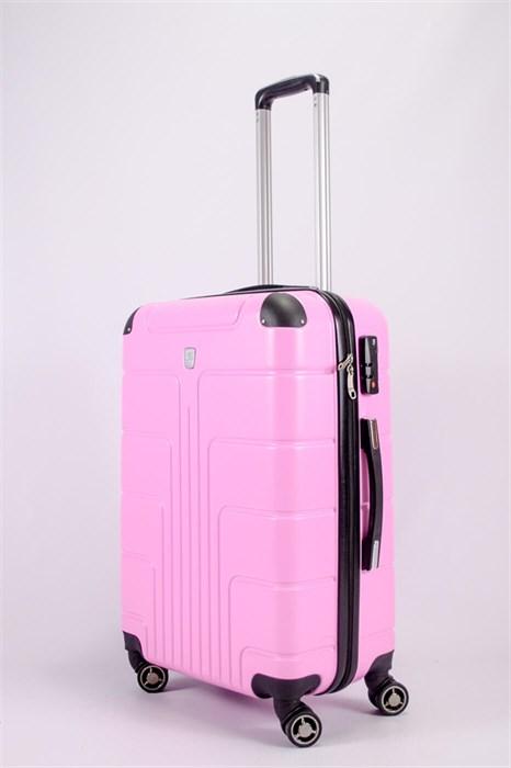 Чемодан средний PC розовый - фото 52314