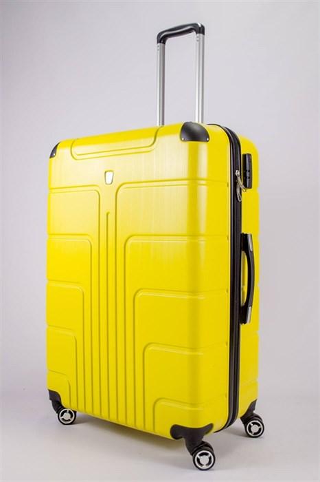 Чемодан большой PC желтый - фото 52425